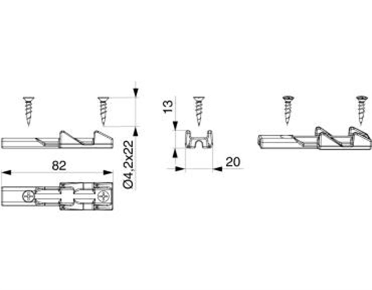 Confezione accessori per aerazione HS 200 kg argen