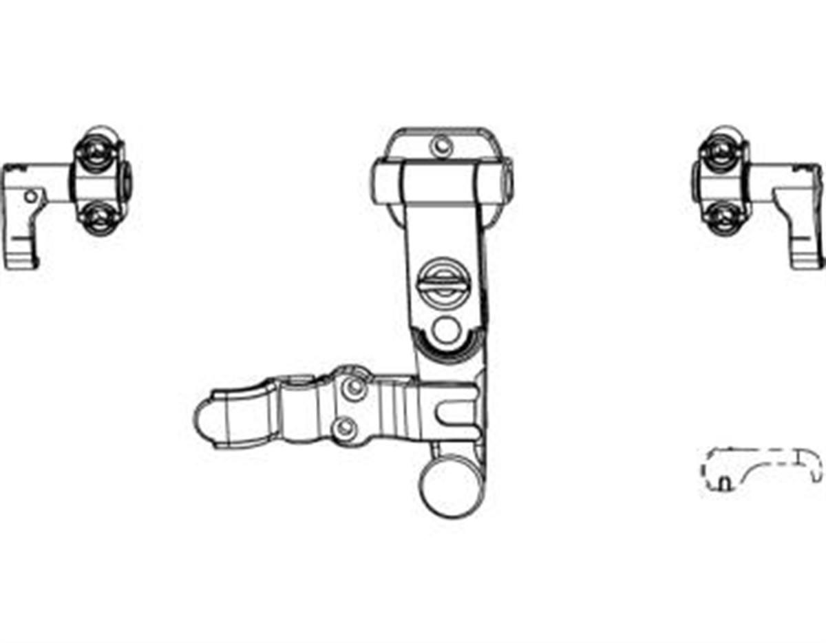 Spagnoletta 2 ante maniglia standard senza piastra