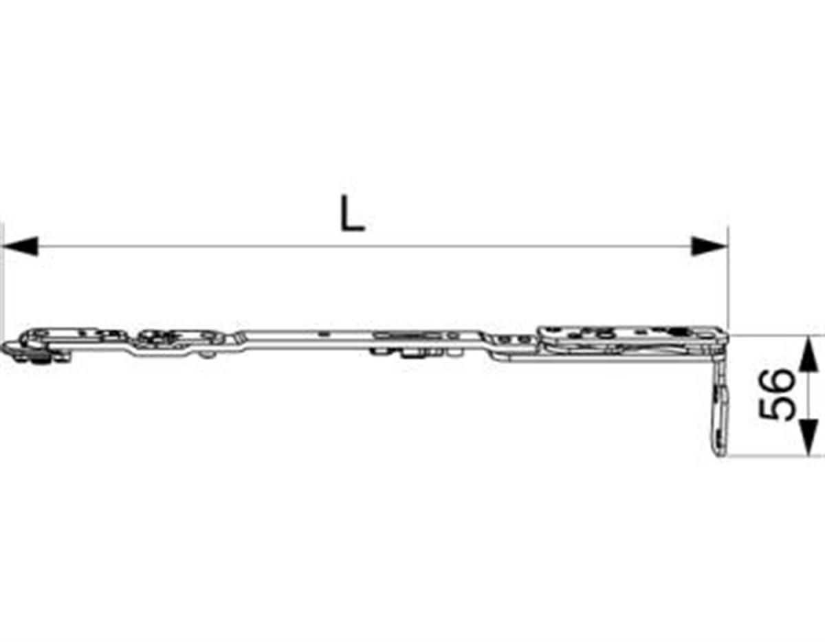 Braccio forbice per aerazione con supporto Multi P