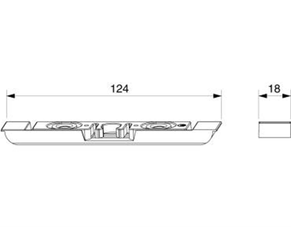 Scrocchetto anta semifissa A4 scost.9 mm da fresar