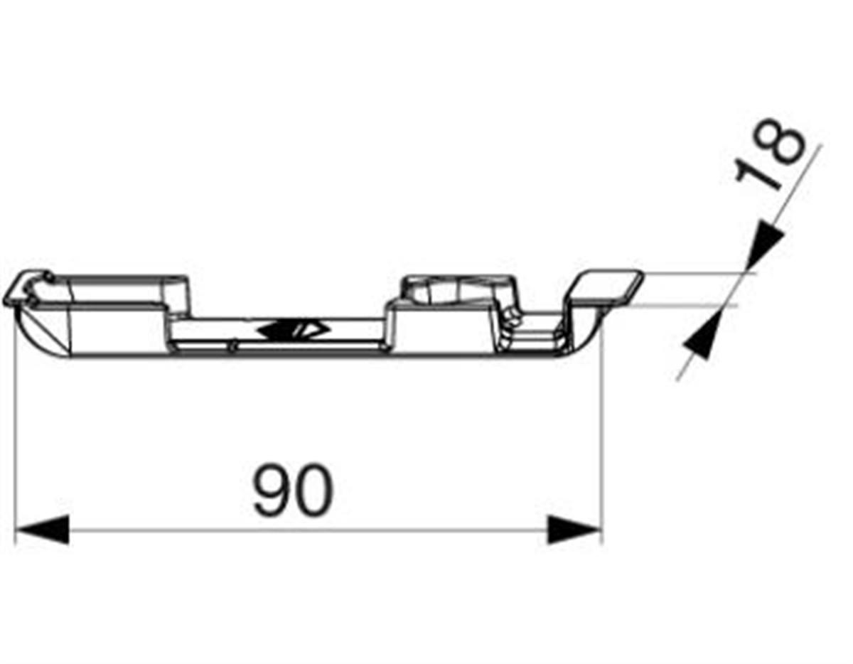 Scontro ribalta per A4 scost. 9 mm dx+sx argento