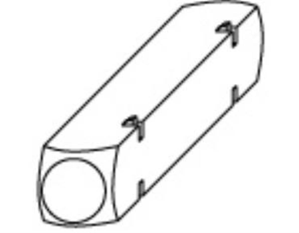 Quadro per scatola comando coprifascetta 7x25mm