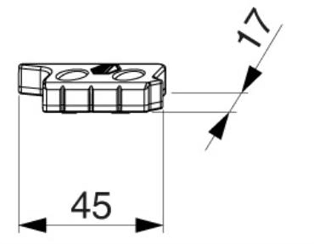 Scontro alza anta MultiMatic battuta liscia/18 con