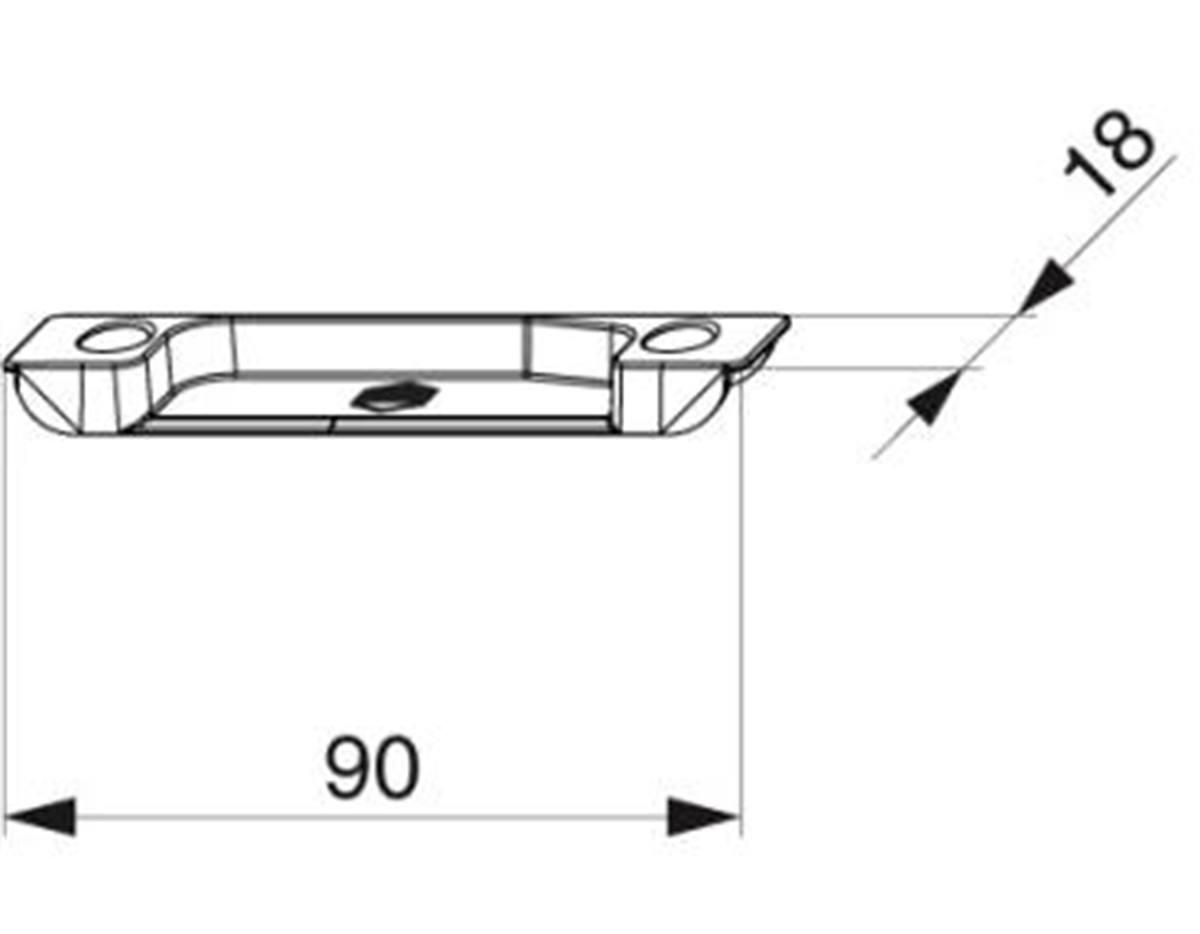 Scontro alza anta MultiMatic per A4 scost. 9 mm de