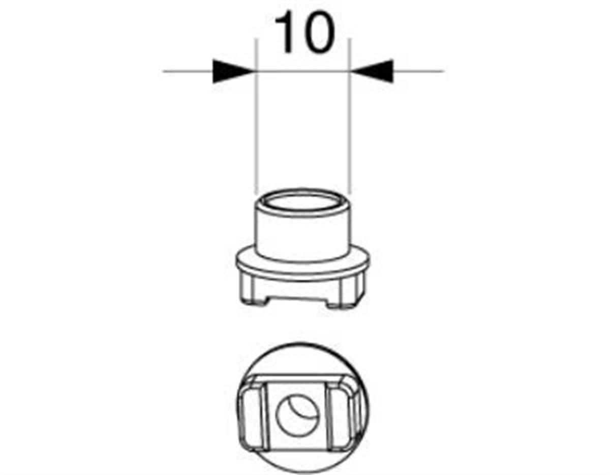 Rullino scrocco anta semifissa canalino Euro 10x7