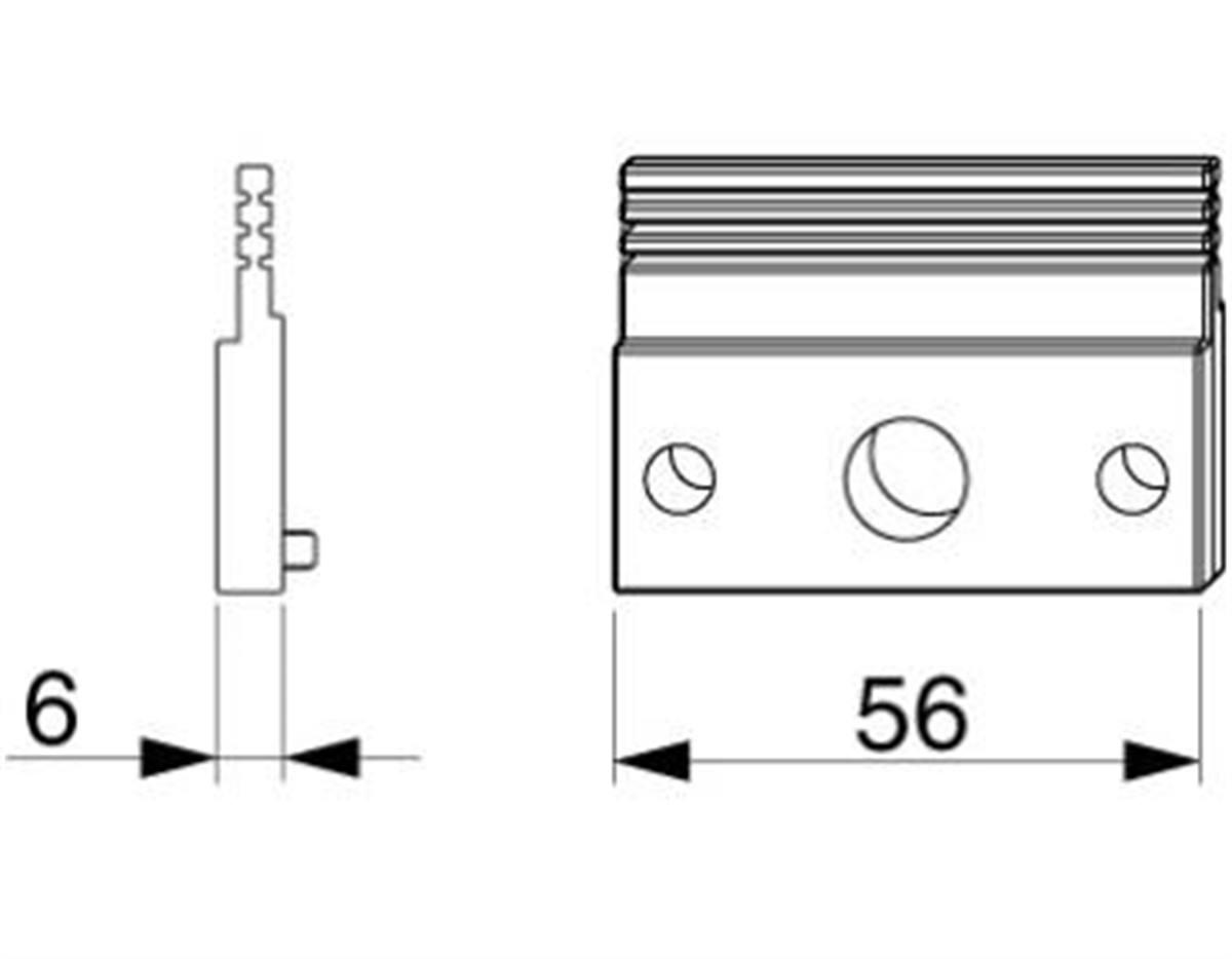 Spessore intermedio per scatola comando coprifasce