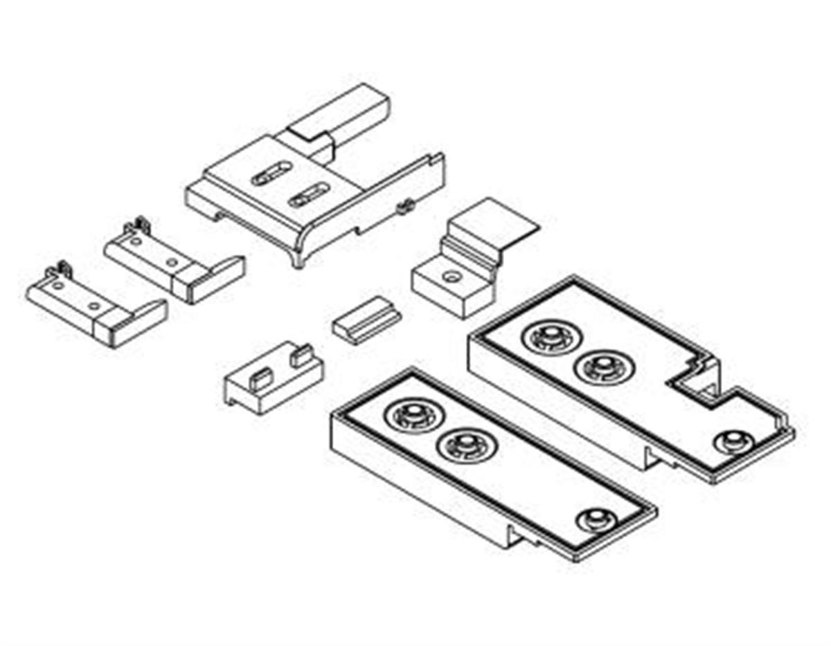 Confezione accessori HS-P per listelli tenuta in a