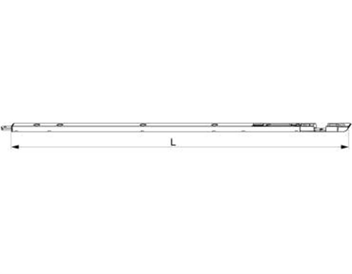 Catenaccio portoncino R8 Aria 4 L=540 argento