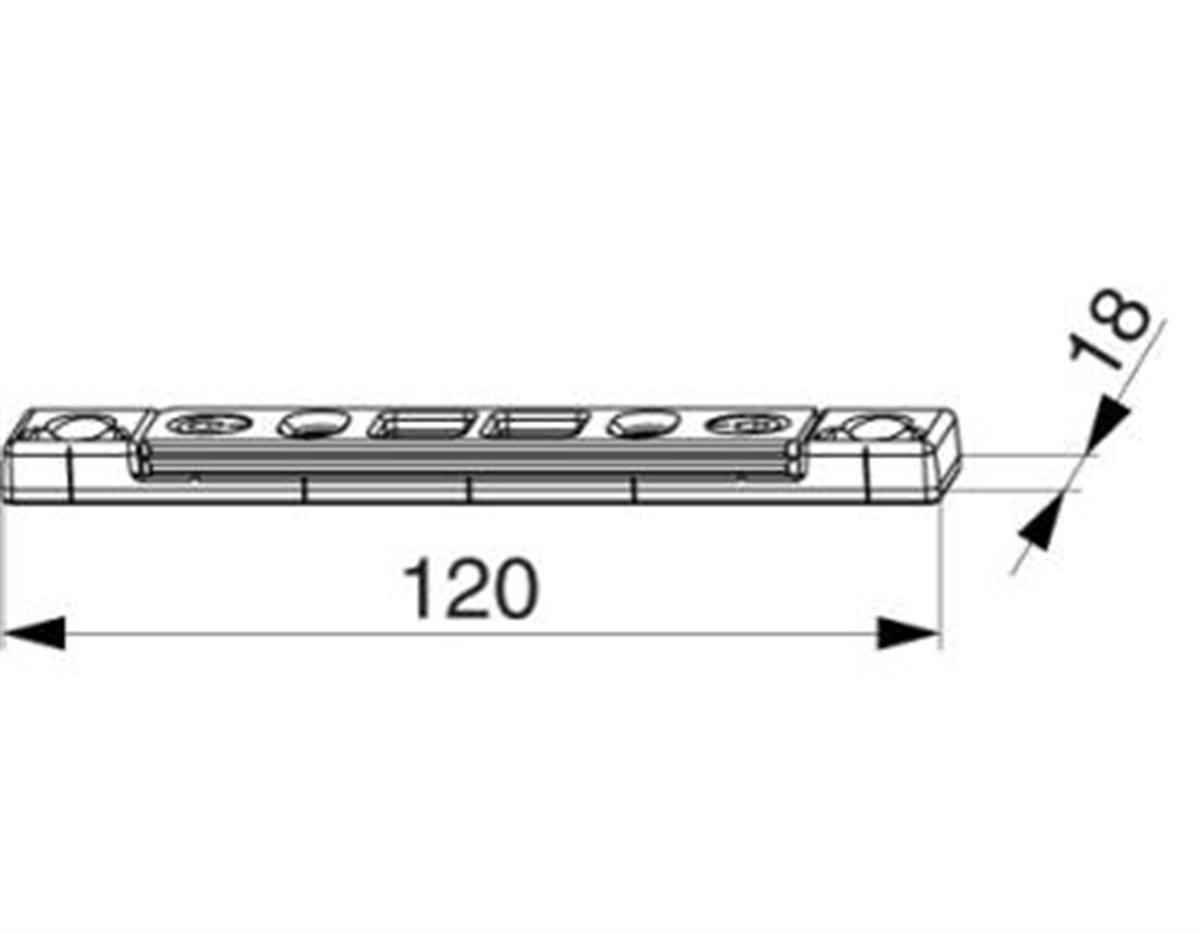 Scontro catenaccio A12 regolabile 2 fori argento