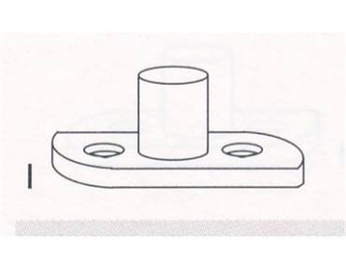 Piastra di chiusura R7 40x14 con perno H=20mm nero
