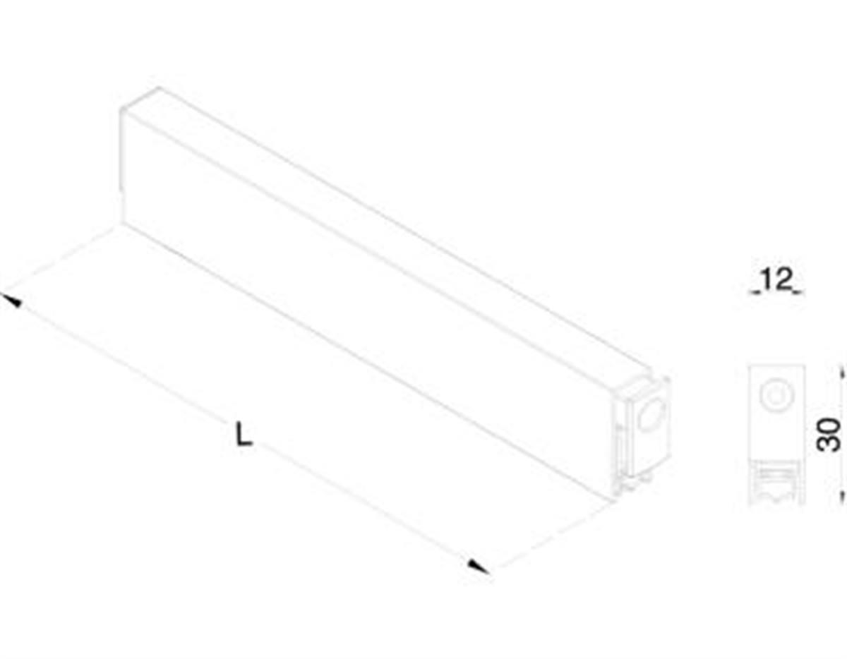 Guarnizione sottoporta Maco autoregolante 12x30 mm