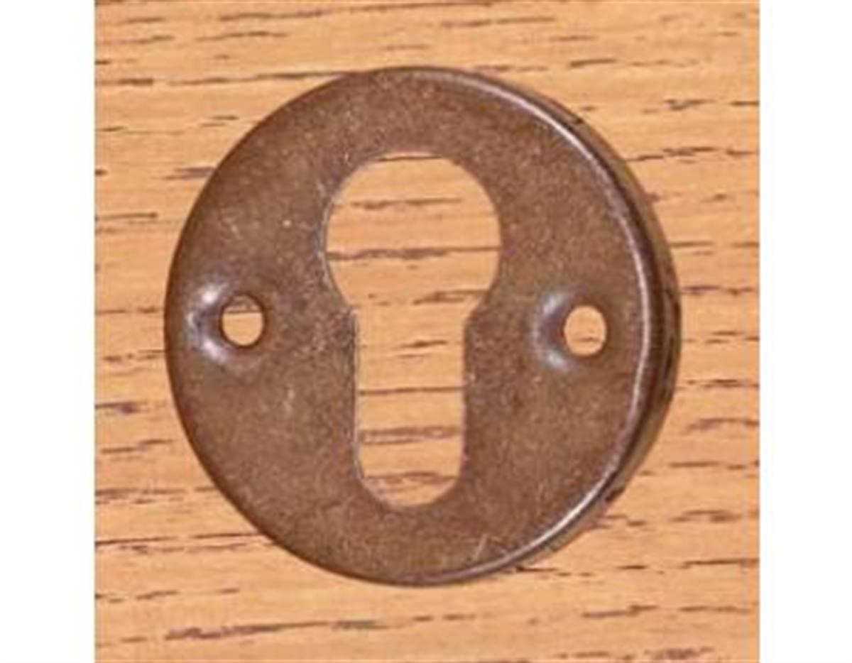 BOCCHETTA TONDA mm 50 F.YALE SCAT. RUGGINE